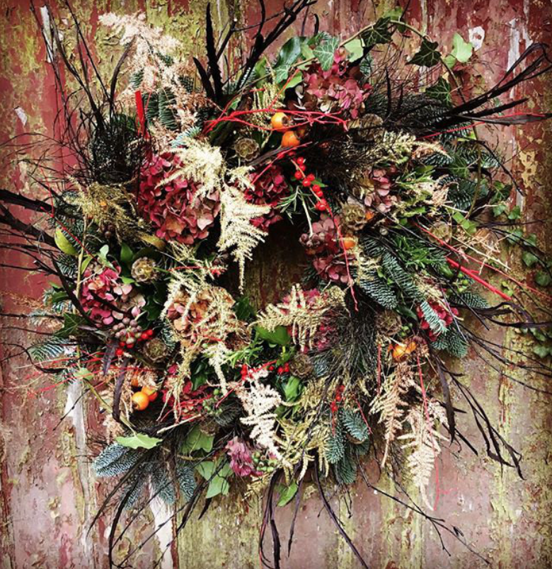 CHRISTMAS WREATH WORKSHOPS - V V Raven was founded by Jo Thorndike, who is passionate about flowers, styling and creating beautiful original backdrops to life. Based in a pretty village on the Essex/Suffolk border, close to Cambridge, Jo mainly work's in East Anglia but will also travel further afield. Jo only works with the best materials and has an amazing network of British flower growers to enable that the majority of my flowers are 'grown and not flown'. I love to create a wild informal look that accentuates all of the beauty of the flowers and foliage used.Jo creates the most stunning flowers for Christmas and is holding a number of Christmas wreath workshops, perfect for any budding florists or creatives wishing to make their own beautiful wreath in time for Christmas. Visit the website below for information on locations and dates.