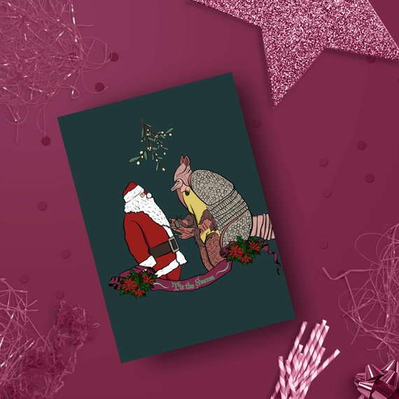 FRIENDS INSPIRED CHRISTMAKKAH CARD - The one with the Holiday ArmadilloFoggish sell cards for almost every occasion, alongside quirky wrapping paper designs and art prints that will make you giggle. If you're mad about colour, love all things pop culture then Foggish designs are for you!This is one of my favourite Friend's episode's, so when I saw that Foggish had a card dedicated to the Holiday Armadillo, I just had to include it in the gift guide.