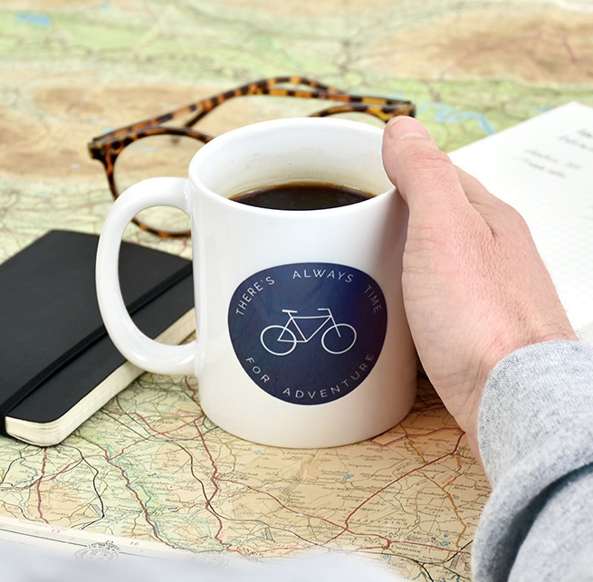 ALWAYS TIME FOR AN ADVENTURE MUG - Ellie Ellie is a multi-award winning British giftware brand, bringing people together through all life's moments. Proud of their British heritage, many products by Ellie Ellie are sustainably designed and made in their Sussex HQ.With a contemporary and linear design, the adventure mug is a great gift for your adventurer, whether they are into camping, cycling, fishing, climbing or just drinking tea.