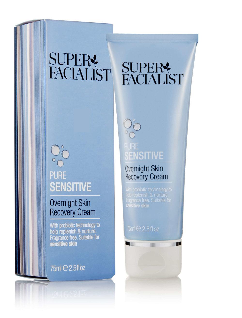 - Super Facialist Pure Sensitive Overnight Skin Recovery Cream