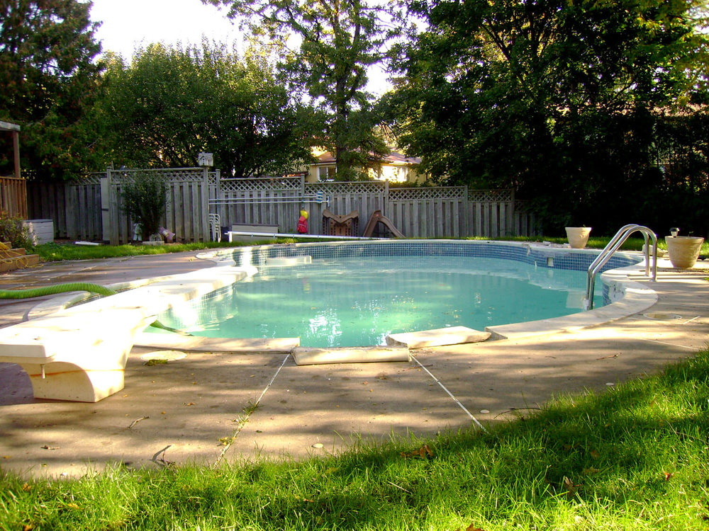 Concrete Pool - Before Photo