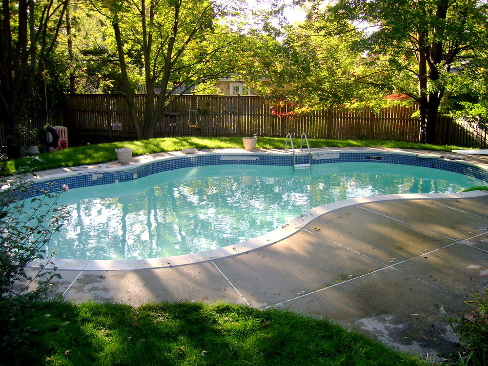 Concrete Pool Before Renovation