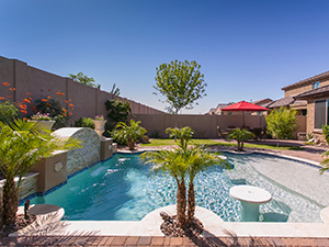 Luxury Pool in backyard