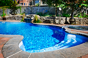 Inground Pool In Residential Backyard
