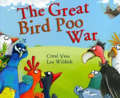 The Great Bird Poo War - By Coral Vass and Lee Wildish'Strutting his feathers down Cherry Tree Way,  Little Pukeko went walking one day. When all of a sudden, something went PLOP! SPLAT on his head! He was covered in slop!'When a bird flying above plops on Little Pukeko's head, he declares war – the ground-dwelling birds against the flying birds. The plovers, the parakeets, the cockatoos, the cuckoos, the blackbirds and the bluebirds – and many others – join in, and soon every bird is covered in slop! Who can put an end to this poo war?