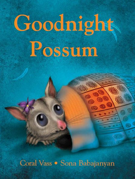 Goodnight Possum - By Coral Vass and Sona BabajanyanDeep in a hollow, near Ironbark Creek, Blossom the Possum was trying to sleep. But it's raining and all the animals come, one-by-one, to share her warm hollow. How will Blossom ever get to sleep?