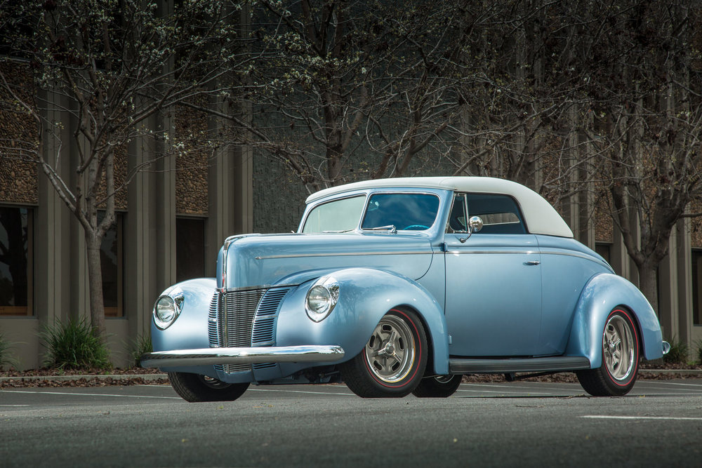 Tony Jurado 1940 Ford Convertible - Photo by Tim Sutton
