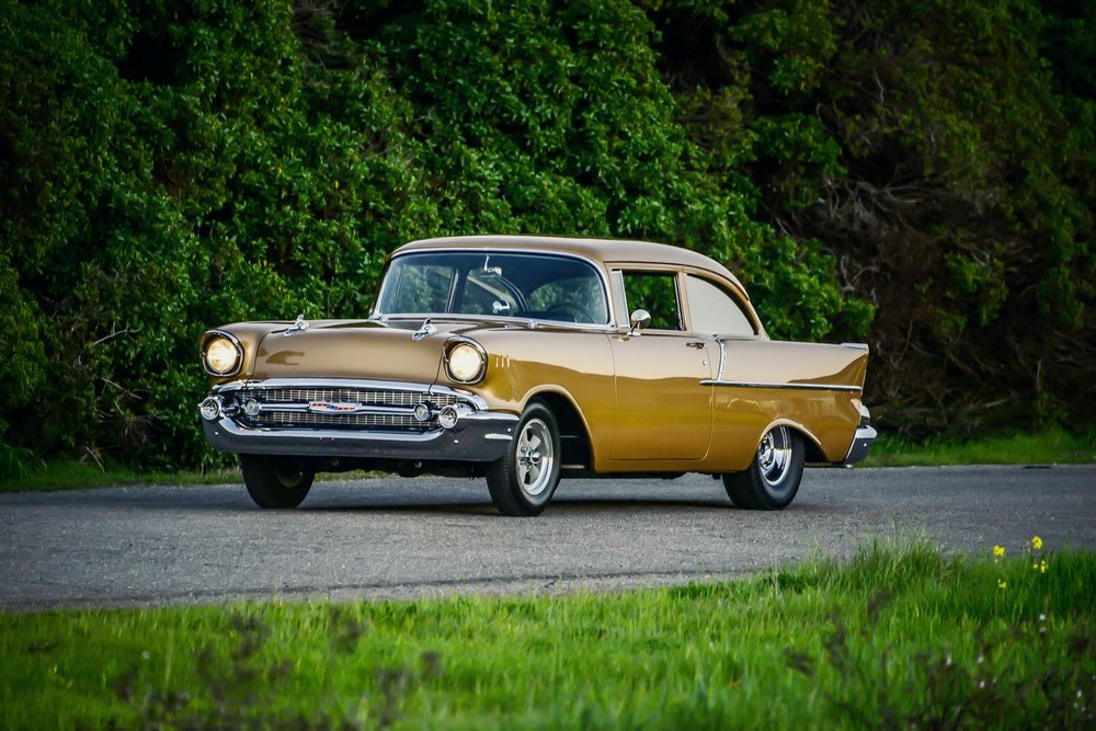 Tony Jurado 1957 Chevy - Photo by John Drummond