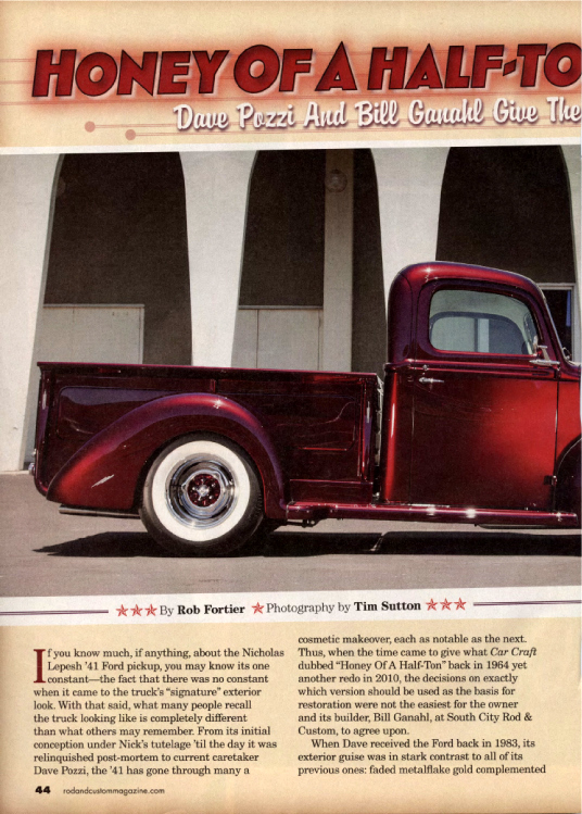 Honey of a Half-Ton Revisited...Again - Pozzi 1941 Ford Pickup - Photos by Tim Sutton