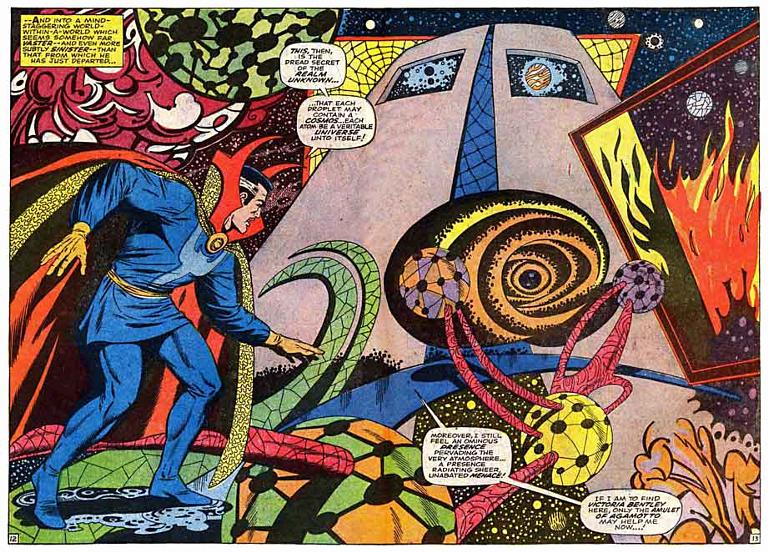 Steve Ditko casually sending the reader on an acid trip