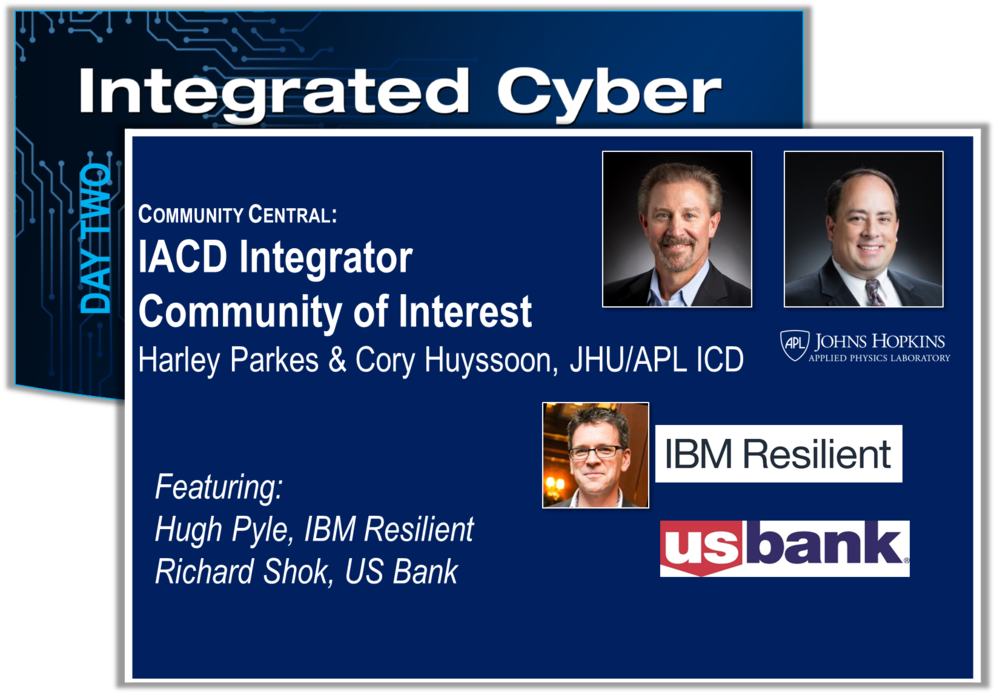 """This session will be the third, quarterly meeting of the IACD Integrator's Community of Interest (COI). The focus of the COI is to facilitate discussions around how we can advance the """"adoption"""" of IACD concepts across a broad range of customer operational environments. The meeting's agenda topics will consist of an overview of the COI purpose and goals, presentations by IBM Resilient's use of automation for Incident Response, lessons learned from an orchestration pilot with U.S. Bank and the future focus of the COI.    View Slides"""