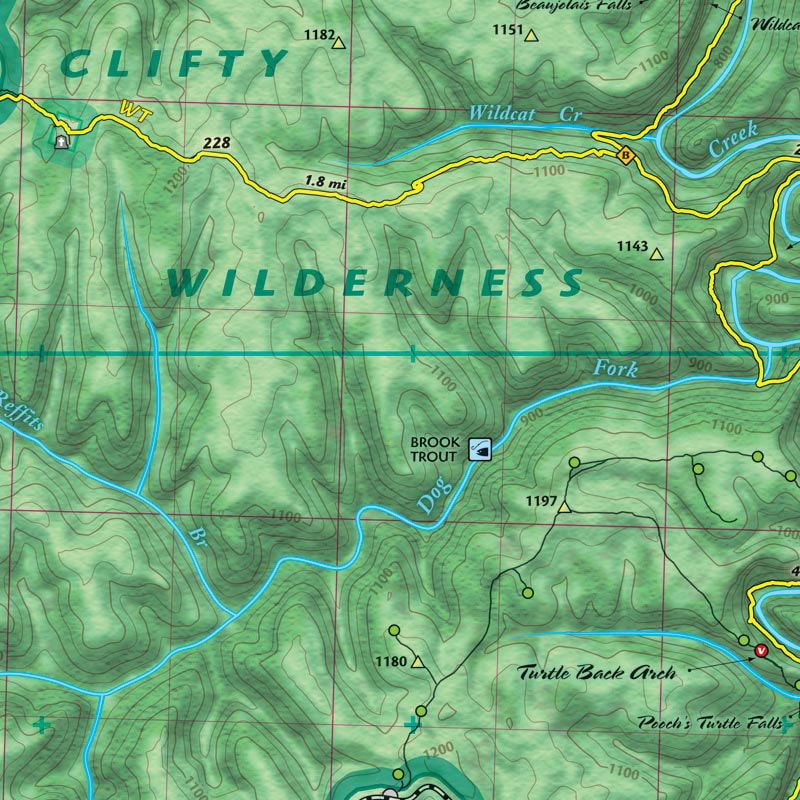OutrageGis Red RIver Gorge Backpacking MAP(Click to Purchase) -