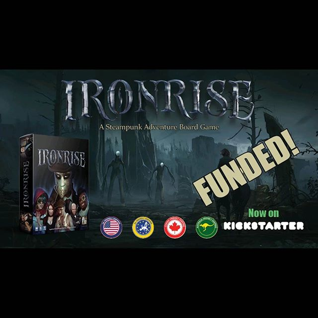 Fully funded with less than 48 hours to go. Check out Ironrise on Kickstarter! (Link in bio). #boardgames #kickstarter #steampunk