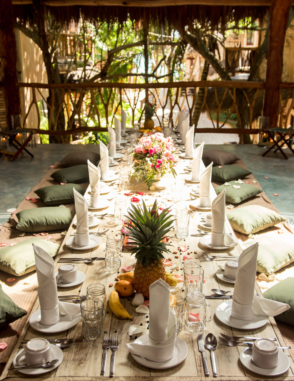 What's Included? - All transportation including airport transferBreakfast, Lunch & Dinner includedAll entrance tickets to landmarksExcursions and ToursLux Snorkeling TourVisit to the Tulum RuinsVisit to Tulum's Incredible CenotesYoga SessionsSunset at the Famous AzulikSwag Bag + More*flights not included*Add on: Massages & Photography Packages