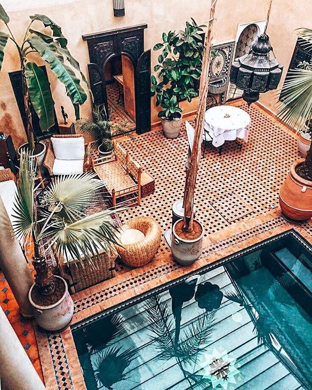 When visiting Marrakech, it is highly recommended that you stay in a riad in the Old Medina to have a truly authentic Morocco experience 🇲🇦 the term 'riad' means garden but it applies to all houses built around a central courtyard. ✦✦✦✦✦✦✦ Our co-founders @hudaalvi and @twosaparty_ are headed to Marrakech next month to scout out our epic itinerary for our September 2019 Morocco trips! We can't wait to make this an adventure of a lifetime for you ladies 🧡 ✦✦✦✦✦✦✦ #thegirlstrip #travelmorebabe #morocco #marrakech #africa #exploremorocco #exploremarrakech #riad #sahara #saharadesert #trip #bucketlist #explore #adventure #wanderlust #curatedtravel #grouptravel #girlstrip #femaletravel #solotravel #travelmore #trip #grouptrip