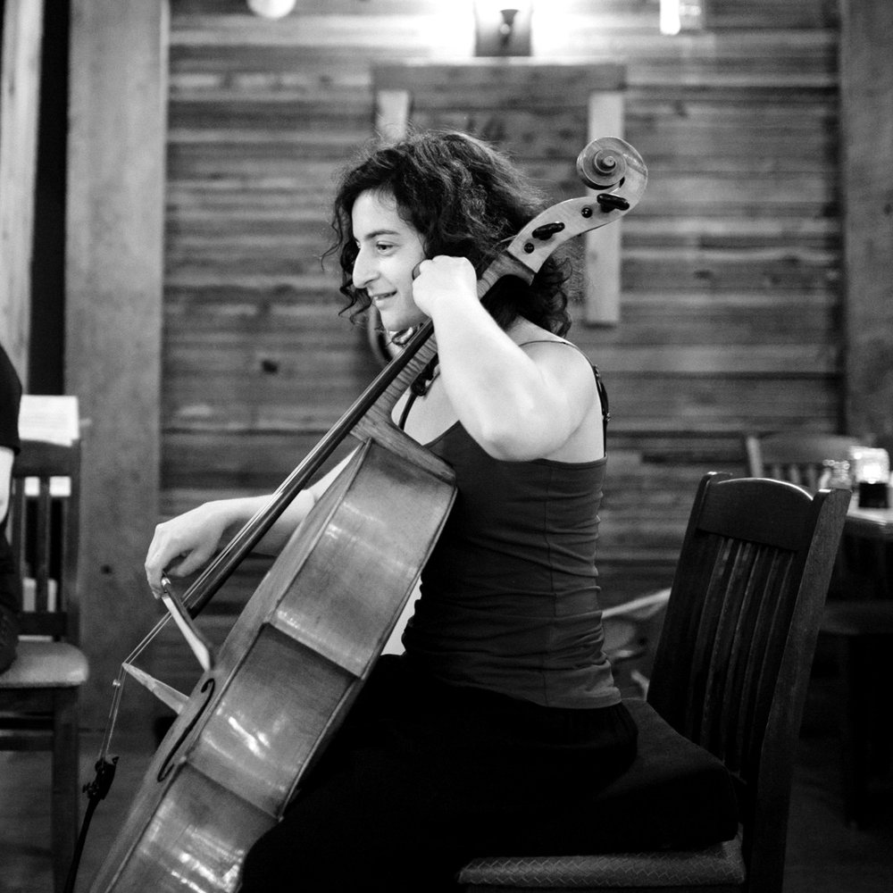 Julie Hereish | Cello   Juliestudied the cello in her native city, Montreal, and then in Vienna, Austria. She is a member of Trio Lajoie and a cofounder and member of a piano quartet called Quatuor Philanthros and a cello octet called Élément 8. She has been invited to play in various chamber music festivals such as Music By The Sea in Bamfield (BC), Rendez-vous musical de Laterrière in Saguenay (QC) and Rosebud Chamber Music Festival in Rosebud (AB). She created, along with actor Pierre Mayer, a musical pantomime for kids called Charlot et Mlle Cello, in honor of Chaplin's famous character.Juliehas been playing regularly as asupernumerarycellist with Les Violons du Roy (QC) and is now the assistant principal cello of the Orchestre Symphonique de Québec.
