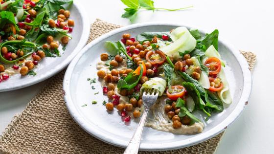 Spiced Roast Chickpea And Pomegranate Salad