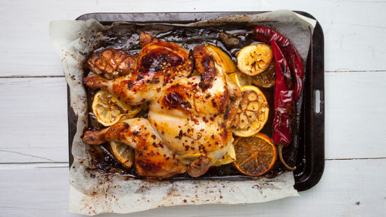 One-tray Baked Lemon Chicken With Veggies