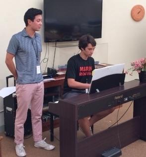 Nic on vocals, and Jake on keys