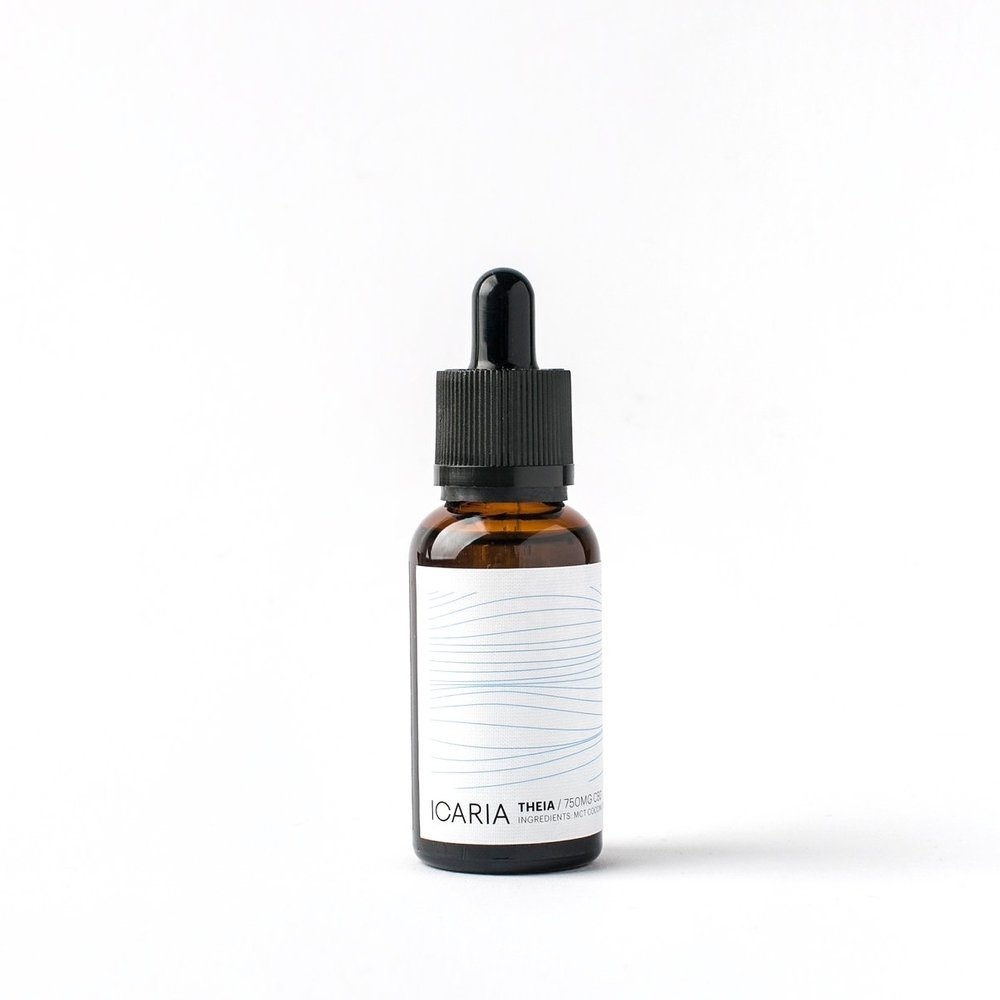 THEIA CBD Oil750 mg CBD (30ml) - CAD 93Ingredients: MCT Coconut Oil, CBD Crysalline.THC-freePerfect for the first time users and for those who are sensitive to foods and supplements. Has no flavour or aftertaste.