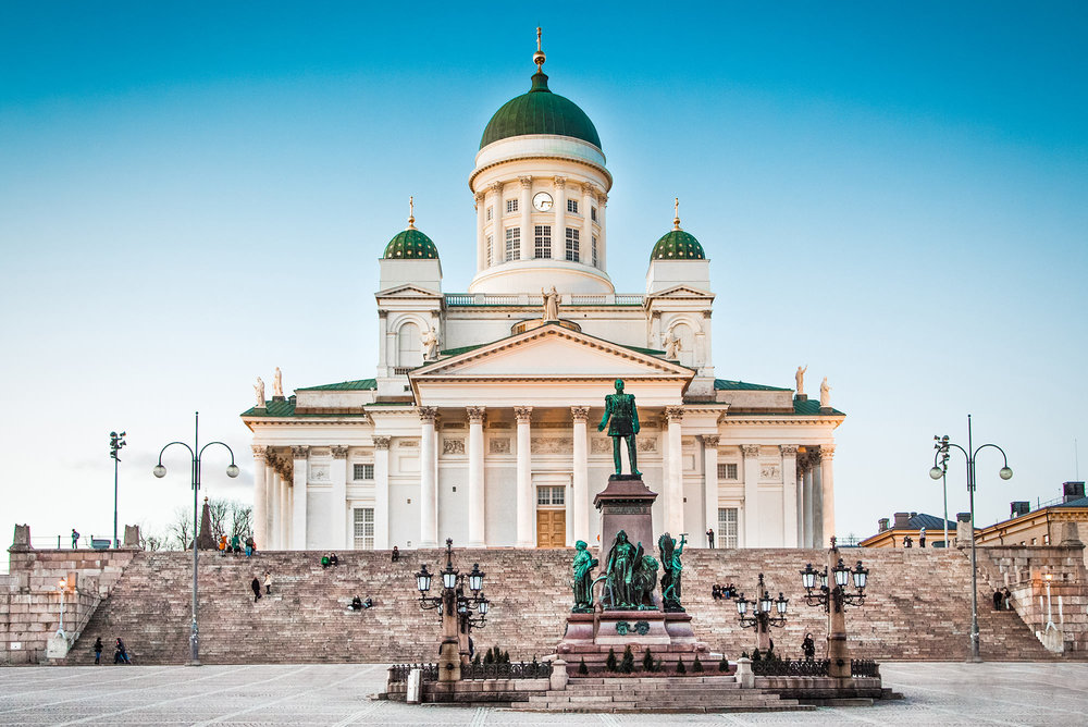 Helsinki Cathedral in the evening light, Finland.