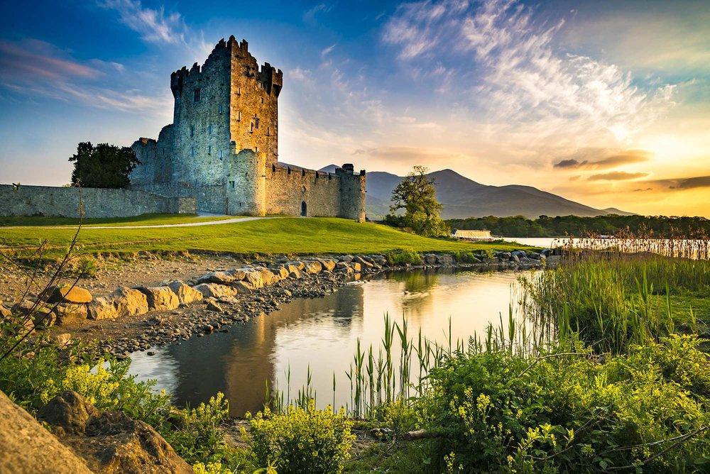Ross Castle on the edge of Lough Leane, in Killarney National Park.