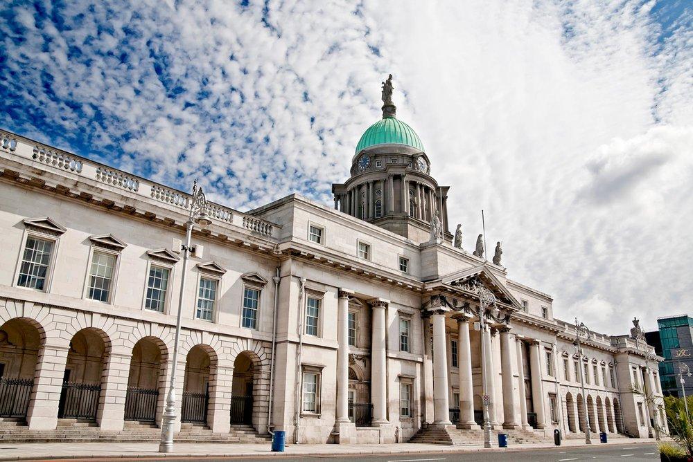 The Custom House in Dublin, Ireland.
