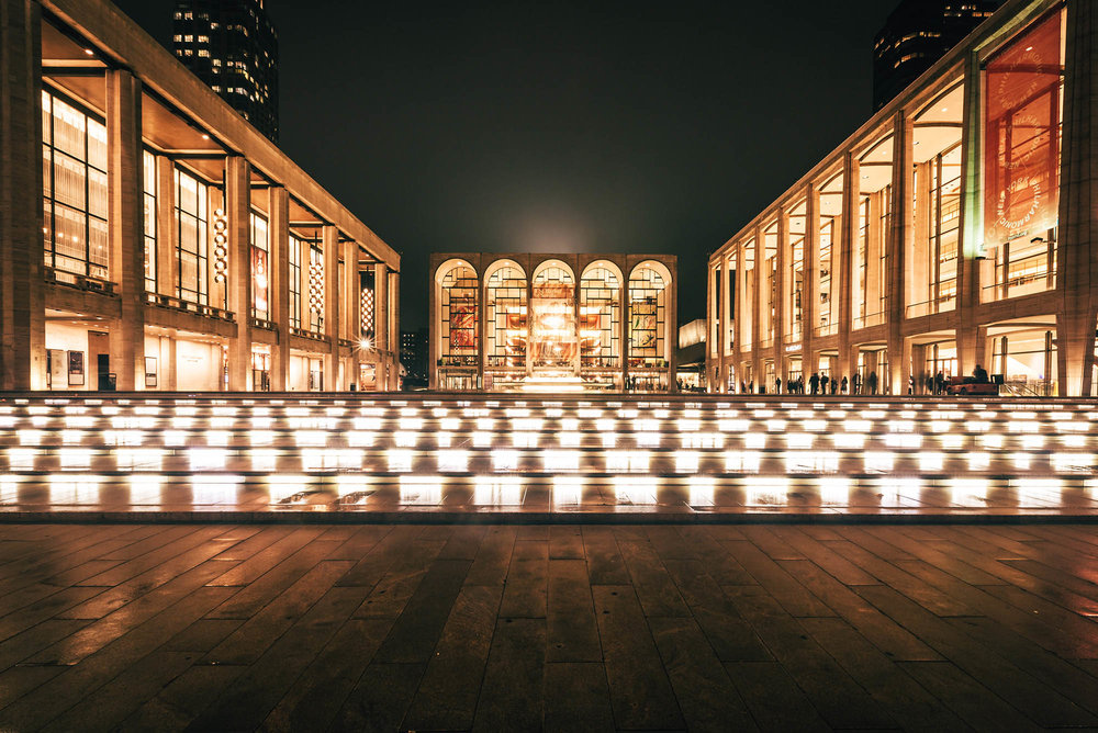 The Metropolitan Opera House at the Lincoln Center, New York.