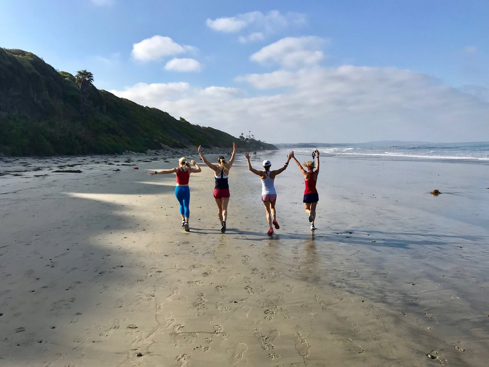 Sam, Jenny, Nat, Moi, and a really gorgeous Encinitas low tide