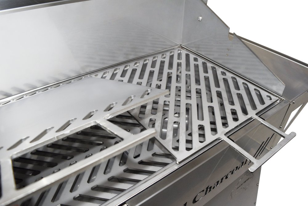 Grills are made from 6mm thick, laser cut stainless steel plates -