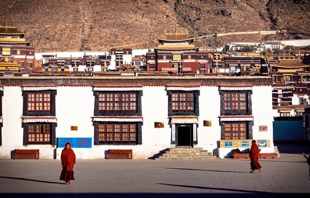 Monks at the Tashi Lhunpo monastery in Shigatse.