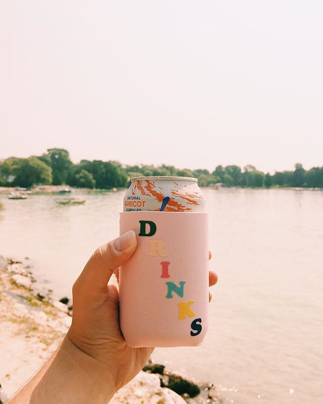 Current mood: still wearing white and still cheers-ing summer. (Feat. the cutest drink sleeve✨)