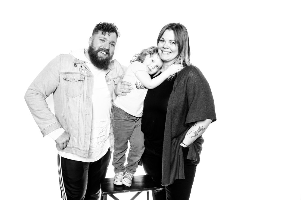The man behind Local DJ and his adorable family (look at that little stinker!)