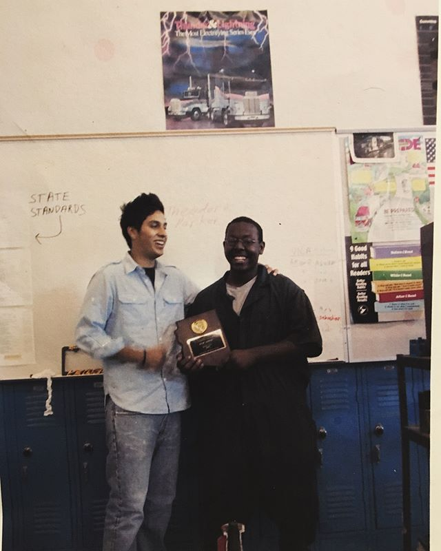 #FlashbackFriday I was president of my automotive class at Metro Tech High. I graduated from Alhambra High school but had the pleasure to attend Metrotech's automotive program. Like my father, I come from a family of mechanics. I earned my first job ever right here in #LD30 selling high performance car parts and my second job as a Honda Tech just down the street. This sort of labor is tough, and too often it doesn't pay very well.  As a child, I wanted to be a civil rights lawyer. Malcom X and Cesar Chavez where a few inspirational figures I always admired. By the time I got to middle school, I felt that kids in my environment and social economic scale didn't go to law school; we follow our parents trade.  Today I'm running to represent working class families all across legislative district 30 and all of Arizona. Our working class is not growing with the economy. The gap in income inequality is widening and we need policies in place that provides economic growth that fortifies working families, not just corporations and stock market investors. #WestValleyVotes #VoteLarios #AZ #CleanElectionsCandidate #LD30 #ProgressivesForAZ #WorkingClass #Arizona #CommunityFirst #Creative #PowerInThePeople #IgersAZ #IgersPHX #Democrats #BlueAZ #AlwaysForward #AZCulture #Education #RedforEd #UnionStrong