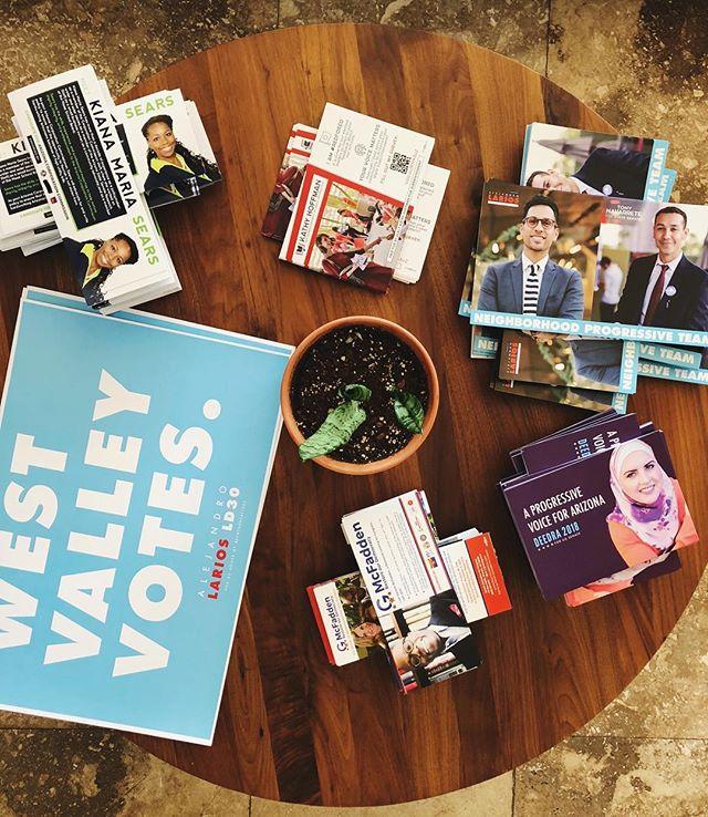 Progressive Coffee Table at the headquarters. We're getting the vote to better all of Arizona!  #WestValleyVotes #VoteLarios #AZ #CleanElectionsCandidate #LD30 #ProgressivesForAZ #WorkingClass #Arizona #CommunityFirst #Creative #PowerInThePeople #IgersAZ #IgersPHX #Democrats #BlueAZ #AlwaysForward #AZCulture #Education #RedforEd #UnionStrong