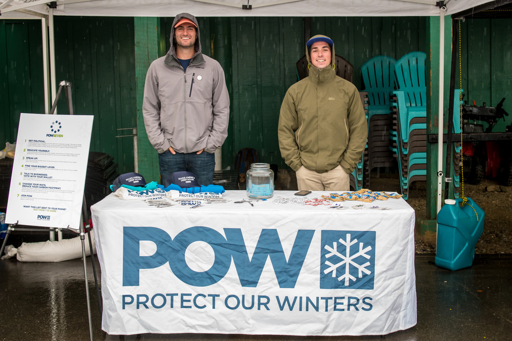 Going To Good - We donate $1 of each registration fee to Protect Our Winters.We also have an art auction within our vendor village, featuring the talent within our mountain community. The proceeds this season will be donated to different organizations working to better the world. These include Protect Our Winters, Sierra Club, and Sea Legacy.