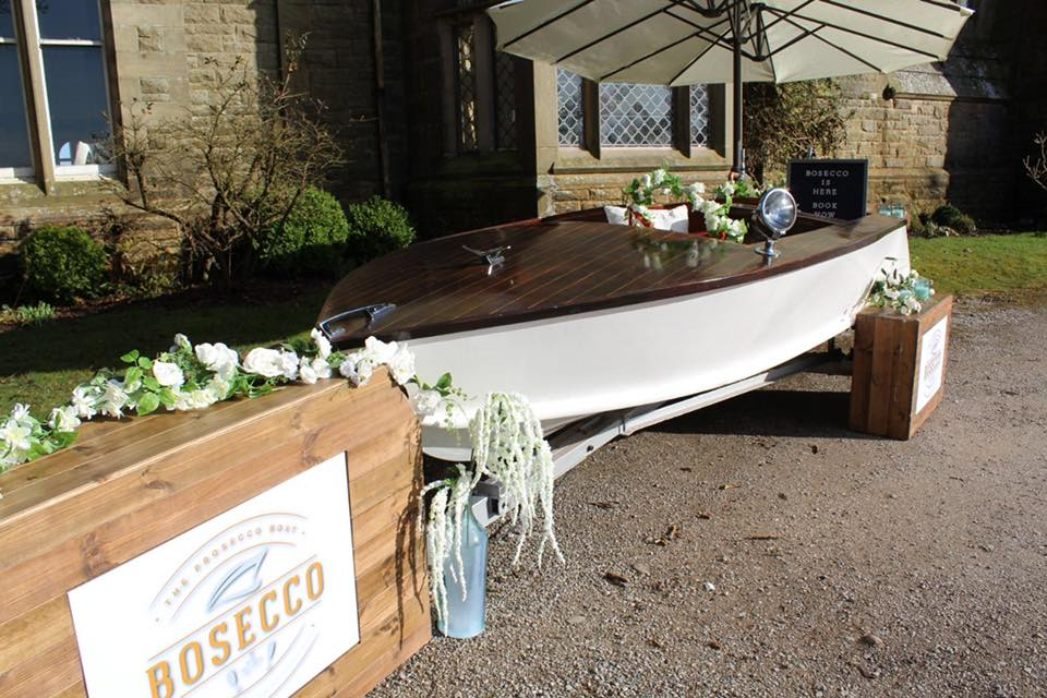 Case Study: Bosecco, The Prosecco Boat - We renovated a shabby vintage boat and made it into a beautiful mobile bar, serving Prosecco on tap for events and weddings.