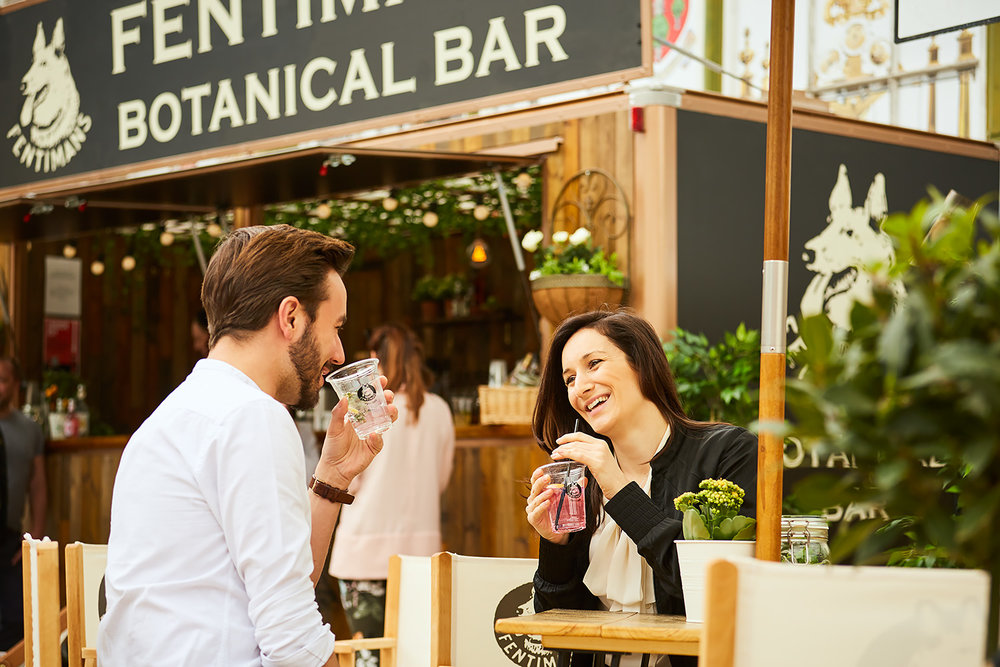 Fentimans Botanical Mobile Bar at Event - Happy Customers