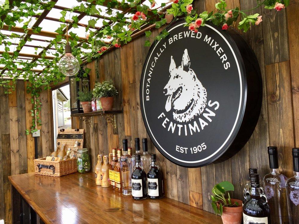 Fentimans botanical mobile bar interior