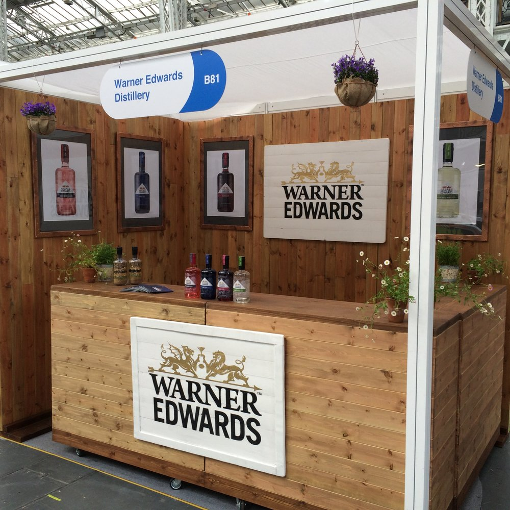 Quirky Group Wooden Bars Warner Edwards - built and designed for exhibition stands