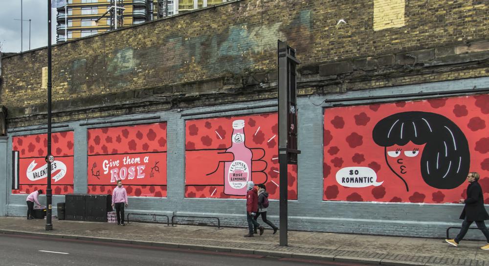 Shoreditch-Art-Wall Quirky Group Brand Activation Sampling