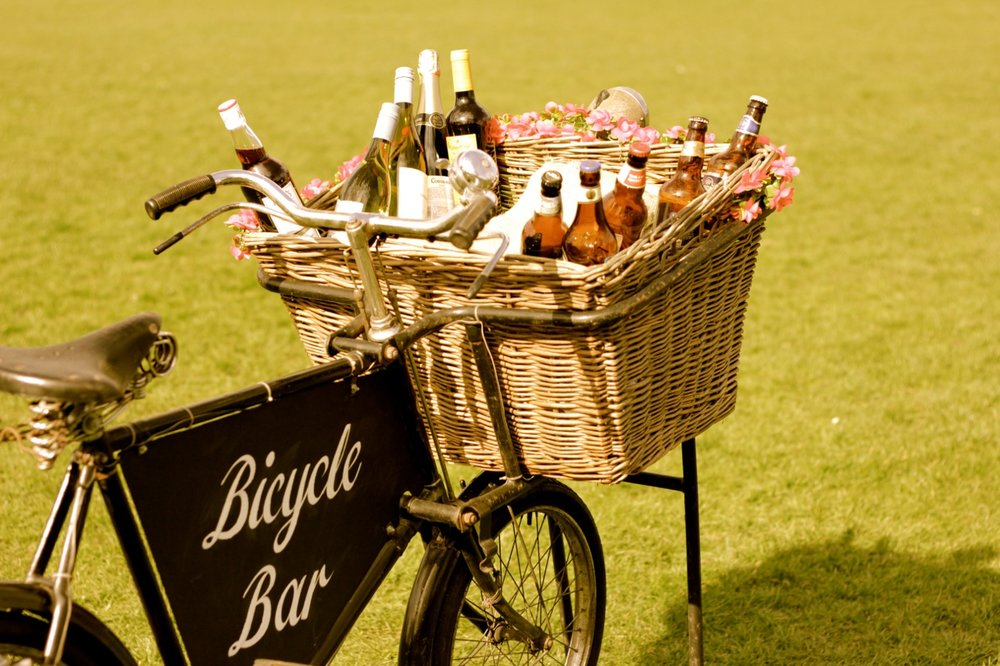 Vintage Bicycle Bar Quirky Group - with wine and beer