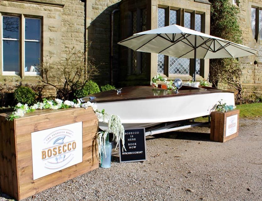 Quirky Group - Bosecco Prosecco Boat Bar designed & built beespoke