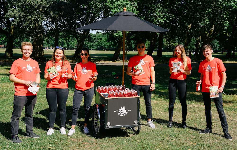 Quirky Group Brand Ambassadors Launch Fentimans Sparkling Raspberry with Branded Tricycle