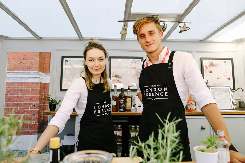WiseHead Productions Quirky Group Brand Ambassadors Promoting London Essence Company at Imbibe Live