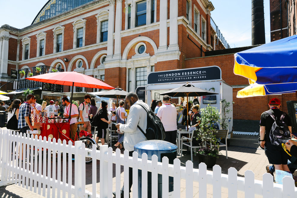 Quirky Group Event Managing a Mobile Bar for London Essence Company at Imbibe Live