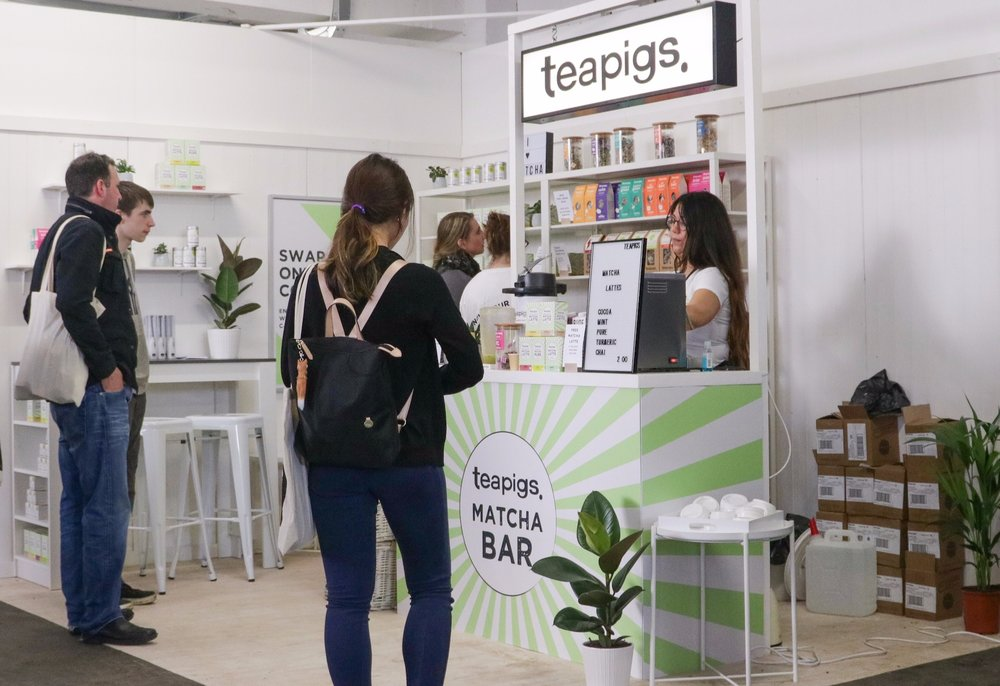 Quirky group trade show stand teapigs