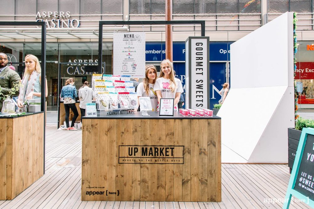 Quirky Group wooden Market stall for hire