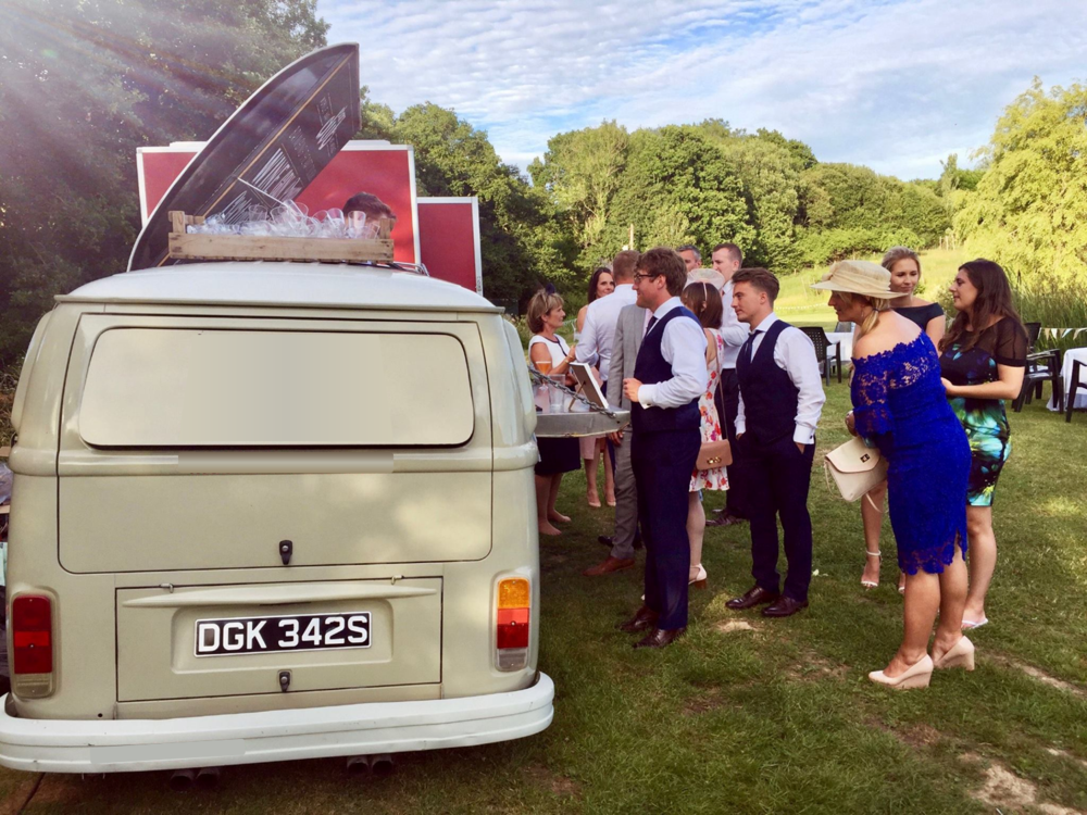 Quirky Group VW Camper Bar - for rent for events