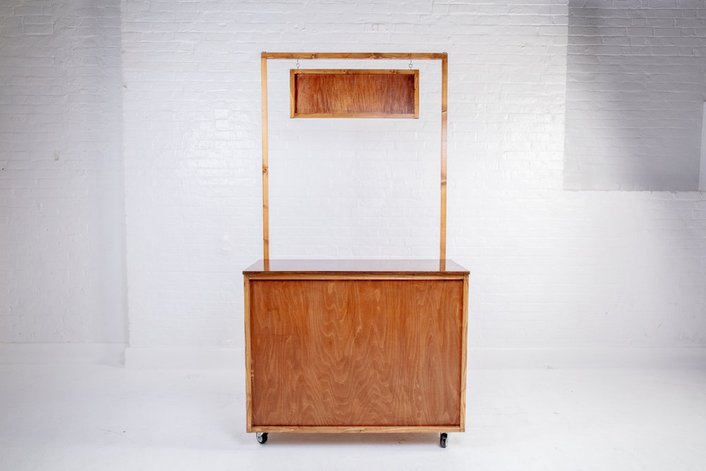 Quirky Group Classic Wooden bar hire